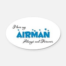 Always and Forever Oval Car Magnet