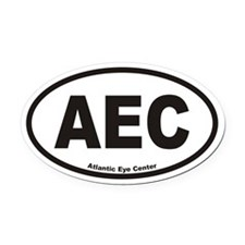 Atlantic Eye Center AEC Euro Oval Car Magnet