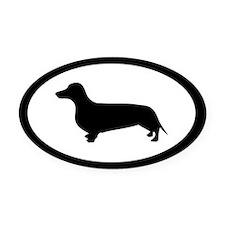 Dachshund Dog Oval Car Magnet