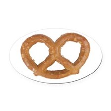 A Pretzel On Your Oval Car Magnet