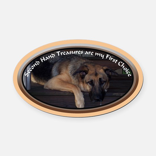Second Hand Treasure Oval Car Magnet