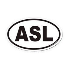 ASL Euro Oval Car Magnet