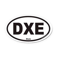 Dixie DXE Euro Oval Car Magnet