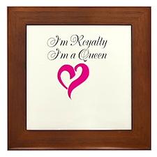 Im Royalty Im a Queen design Framed Tile