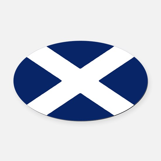 Scottish Flag Auto Decal / Oval Car Magnet