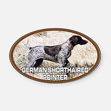 Cute German shorthair pointers Oval Car Magnet