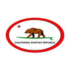 California Bear Oval Car Magnet
