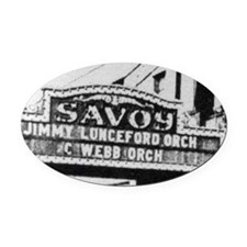 Savoy Marquee Oval Car Magnet
