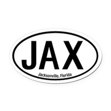 Jacksonville, Florida Oval Car Magnet