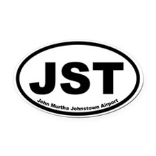 John Murtha Johnstown Airport Oval Car Magnet