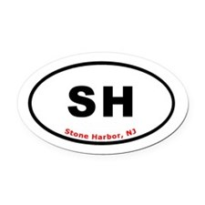 Stone Harbor NJ Oval Car Magnet
