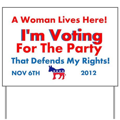 Women Vote Lawn Sign
