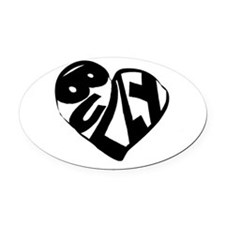 Bully Lover Oval Car Magnet