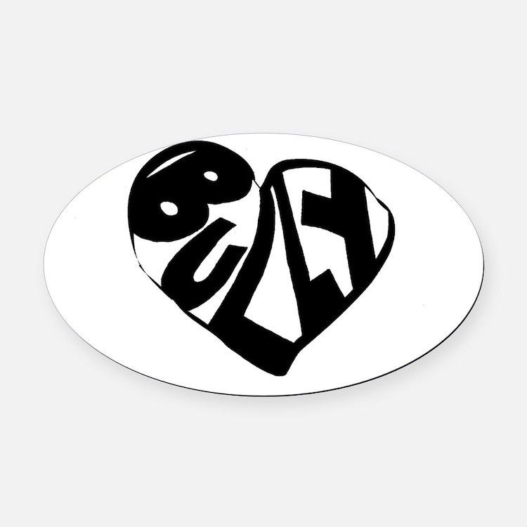 Bully Lover Oval Car Magnet