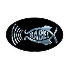 Babel Fish Oval Car Magnet