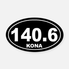 140.6 ironman kona Oval Car Magnet Oval Car Magnet