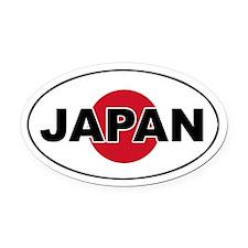 Japanese Flag Oval Car Magnet
