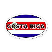 Costa Rica Flag Oval Car Magnet