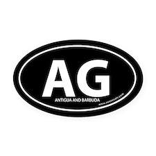 Antigua and Barbuda bumper Oval Car Magnet -Black