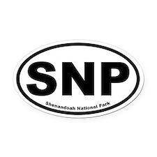 Shenandoah National Park Oval Car Magnet