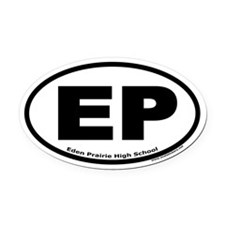 "Eden Prairie High School ""EP"" Oval Car Magnet"