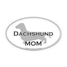 Dachshund MOM Oval Car Magnet