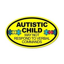 Autism Child Car Decal Oval Car Magnet