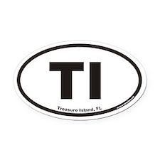 Treasure Island Florida TI Euro Oval Car Magnet