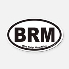 Blue Ridge Mountains BRM Euro Oval Car Magnet