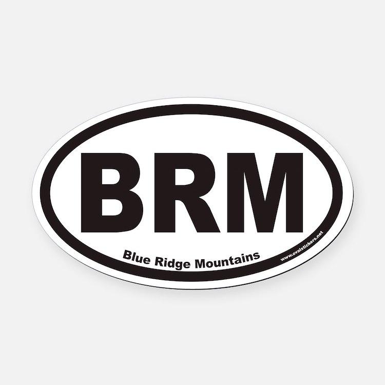 Blue Ridge Mountains BRM Euro Oval Car Magnet