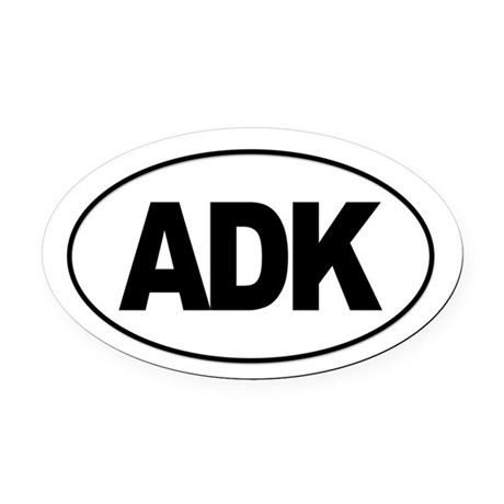 Adirondack ADK Oval Car Magnet