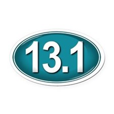 13.1 TEAL Marathon Oval Car Magnet