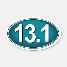 13.1 TEAL Marathon Oval Car Magnet