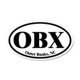 Obx Oval Car Magnets