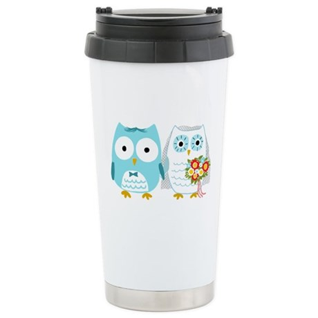 Owls Wedding Stainless Steel Travel Mug