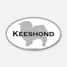 Keeshond Oval Car Magnet