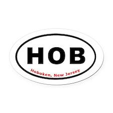 Hoboken Euro Oval T-shirt Oval Car Magnet