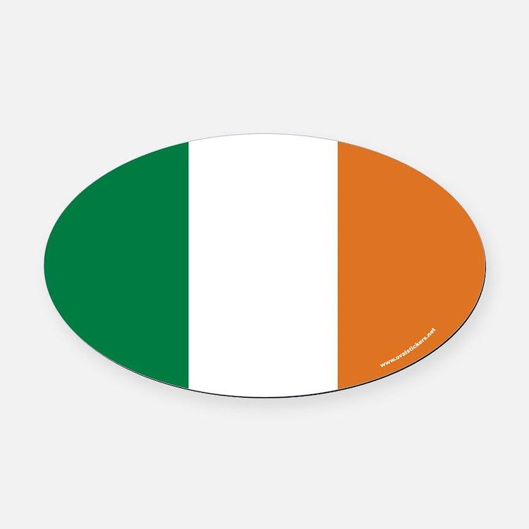 Irish Flag Euro Oval Car Magnet