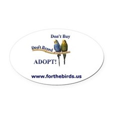 Budgie Oval Car Magnet