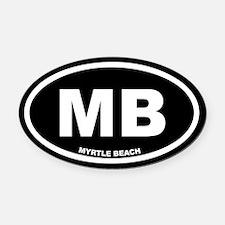 MB Myrtle Beach, SC Black Euro Oval Car Magnet