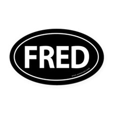 Fred 2008 Traditional Oval Car Magnet -Black (Oval