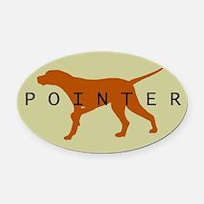 Pointer Dog (Sage) Oval Car Magnet