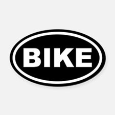 Bike Euro Oval Car Magnet