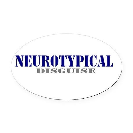 Neuro Typ Oval Car Magnet
