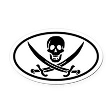Calico Jack Oval Car Magnet