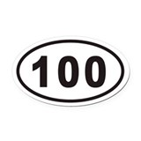 100 mile Oval Car Magnets