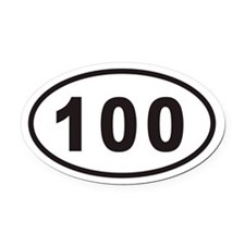 100 Euro Oval Car Magnet