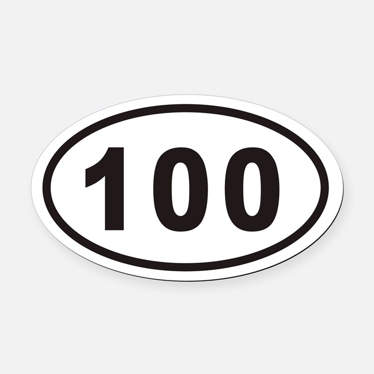 100 Euro Oval Car Magnet