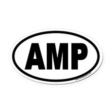 AMP Euro Oval Car Magnet