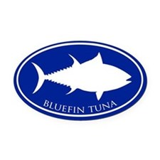 Bluefin Tuna Oval Car Magnet